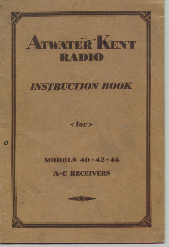 AK 40 Instruction Book Cover